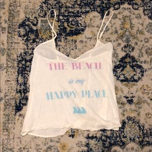 The Beach is my Happy Place tank top hardly worn!